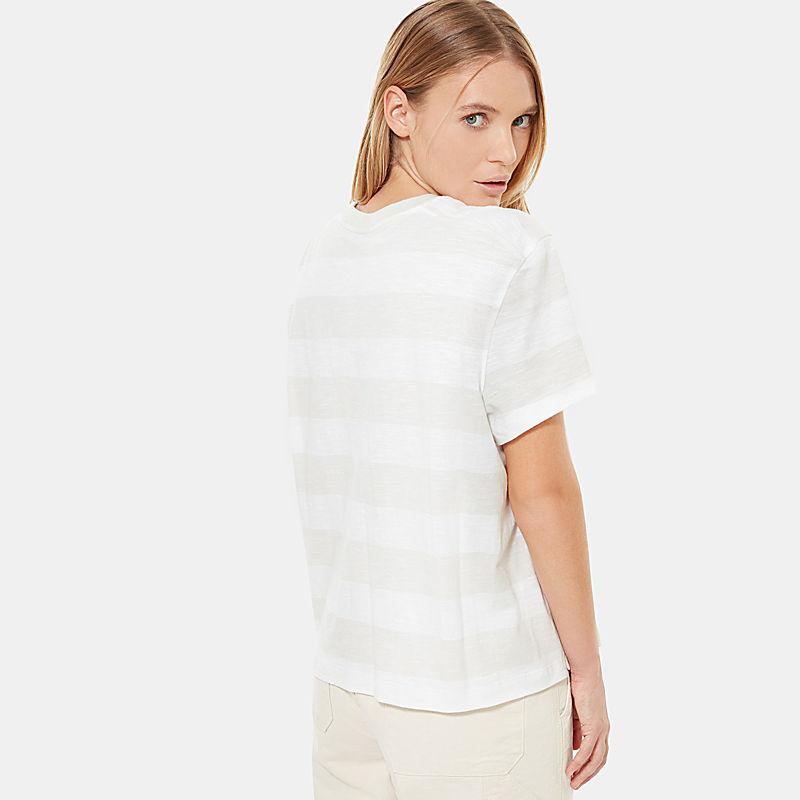 Women's Stripe Knit Short-Sleeve T-Shirt-
