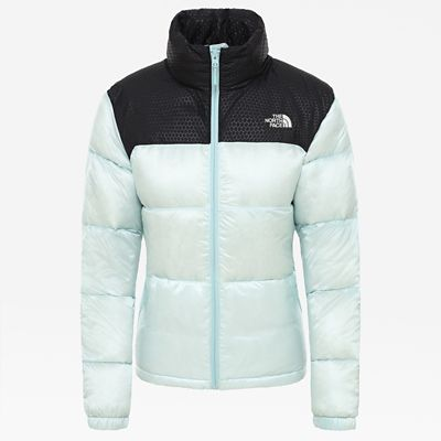 The North Face Womens Nevero Down Jacket Windmill Blue Size