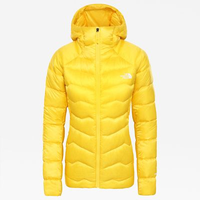 The North Face Womens Impendor Hooded Down Jacket Vibrant Ye