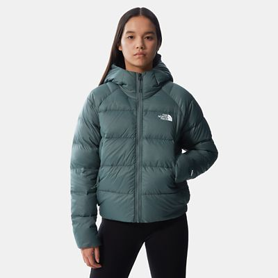 The North Face Womens Hyalite Down Hooded Jacket Balsam Gree