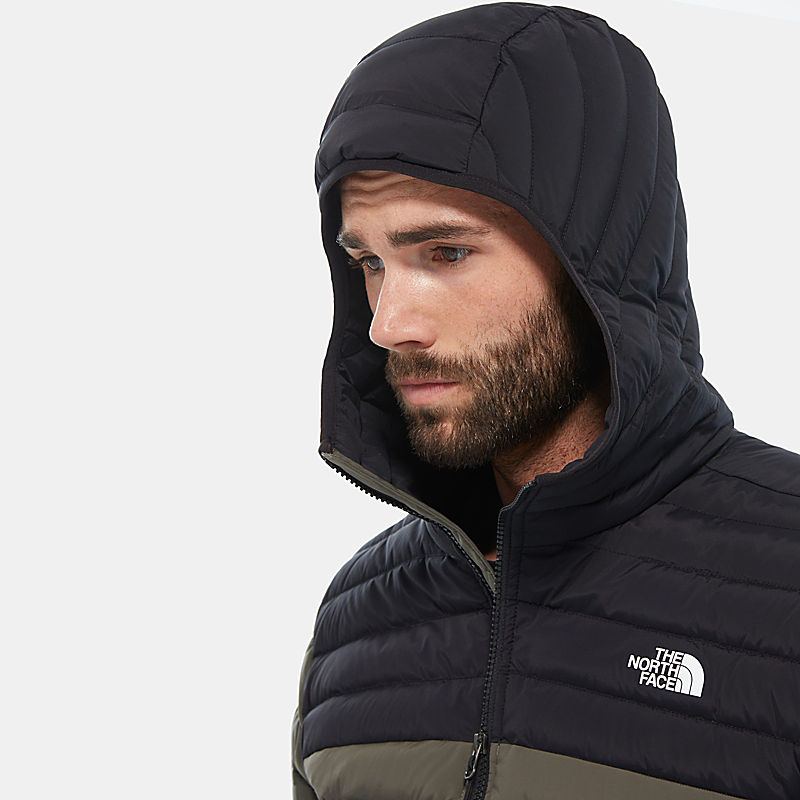 Men'S Stretch Hooded Down Jacket-