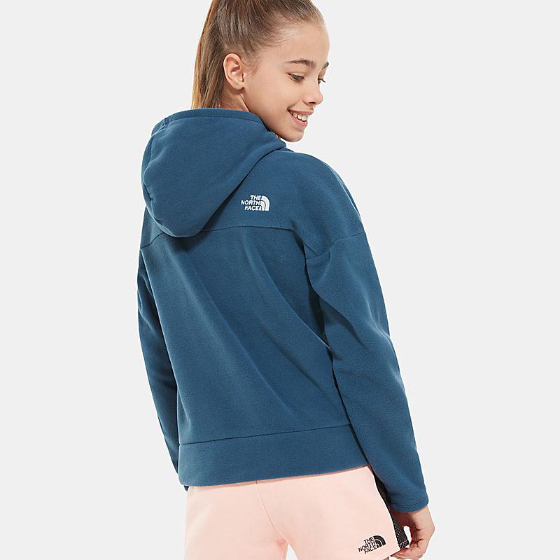 Girl's Glacier Full Zip Hooded Fleece-