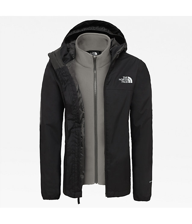 The North Face Boys Tnf Black Elden Rain Triclimate Veste Manteau Taille L