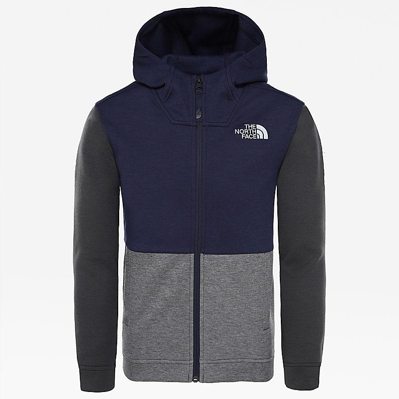 Slacker-hoodie met lange rits voor jongens-