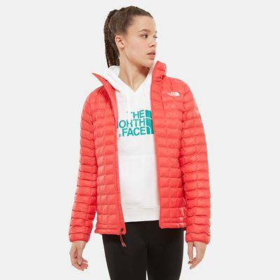 The North Face Womens Thermoball Eco Jacket Cayenne Red Size