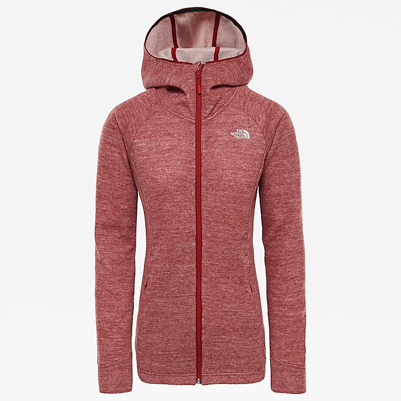 Damen Inlux Wool Pro Fleece-Kapuzenjacke mit durchgehendem Reißverschluss-