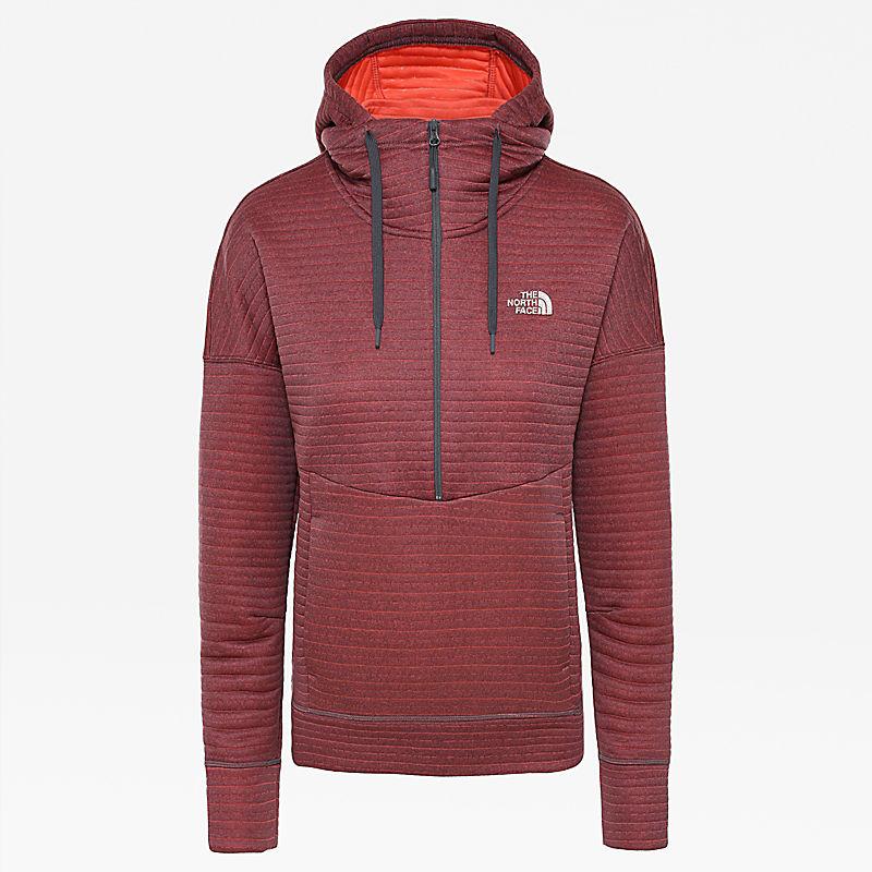 Hikesteller-hoodie met 1/4-rits voor dames-
