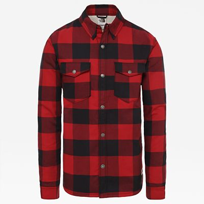 The North Face Chemise Campshire Pour Homme Cardinal Red Bufflbllpld Print Taille S Men