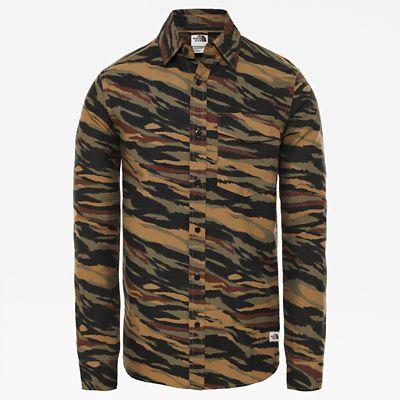 The North Face Chemise Avec Imprimé Northwatch Pour Homme Britsh Khaki Tiger Camo Print Taille S Men