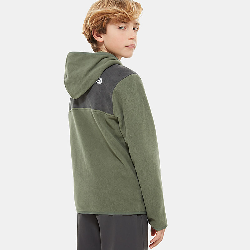 Boy's Glacier Full Zip Hooded Fleece-