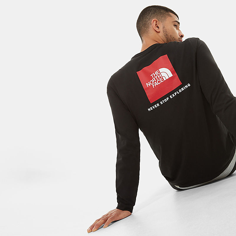 Men's Red Box Long-Sleeve T-Shirt-