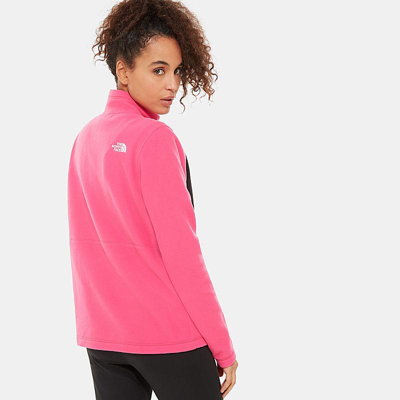 Tka-Fleece Met Kleurvlakken En Kwartrits Voor Dames-
