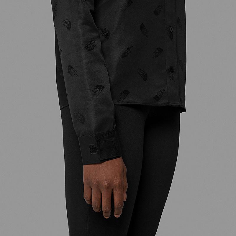Camicia Donna Con Logo Jacquard Black Series-