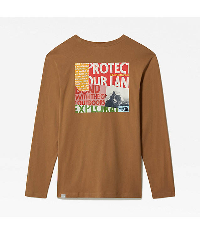 GRAPHIC T-SHIRT MET LANGE MOUWEN VOOR HEREN | The North Face