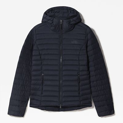 The North Face Womens Stretch Down Hooded Jacket Aviator Nav