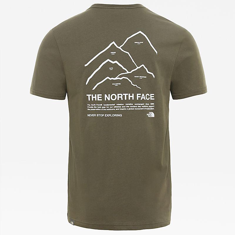Peaks-T-shirt voor heren-
