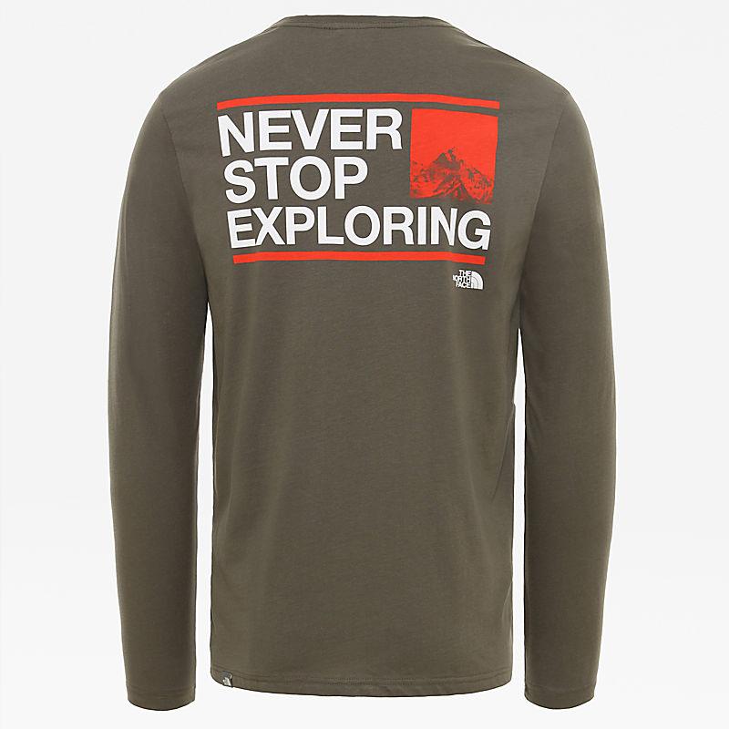 T-shirt à manches longues Explore pour homme-