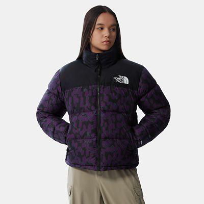 The North Face Womens 1996 Printed Retro Nuptse Jacket Gravi