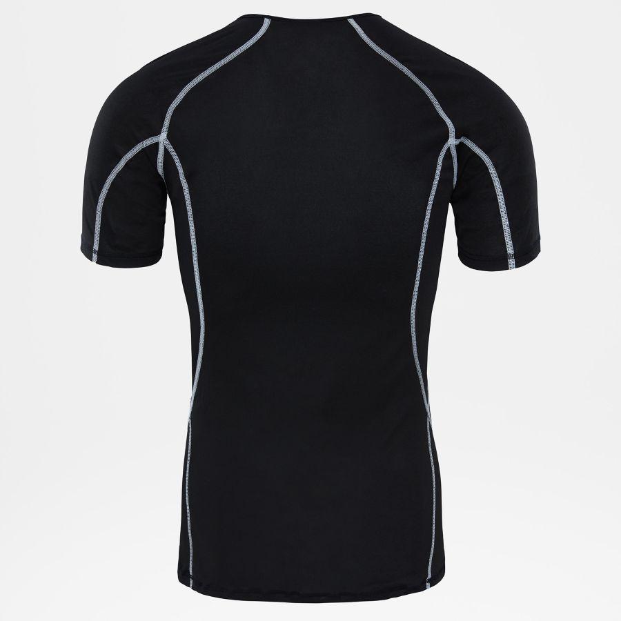 Camiseta ligera de manga corta con cuello redondo-