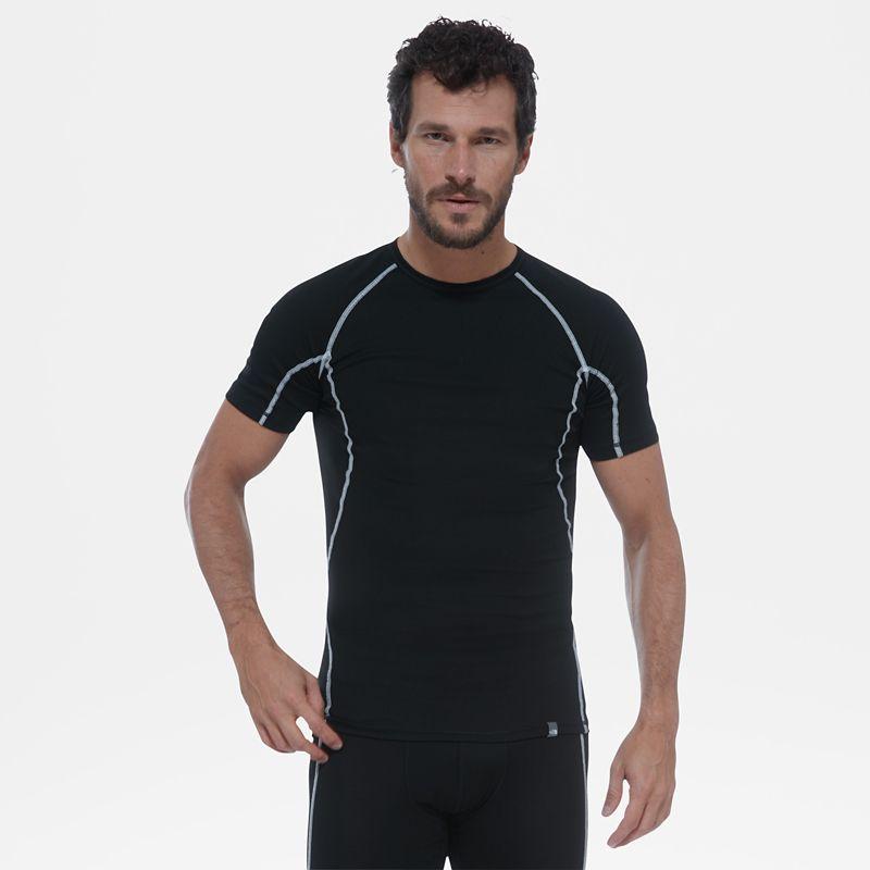 Licht T-shirt met ronde hals en korte mouwen-