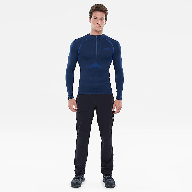 Hybrid T-shirt met rits en lange mouwen voor heren-