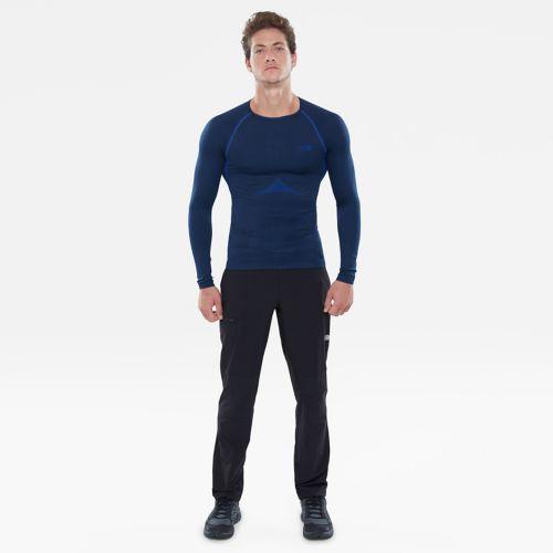 T-shirt Hybrid à col ras-du-cou et manches longues pour homme-