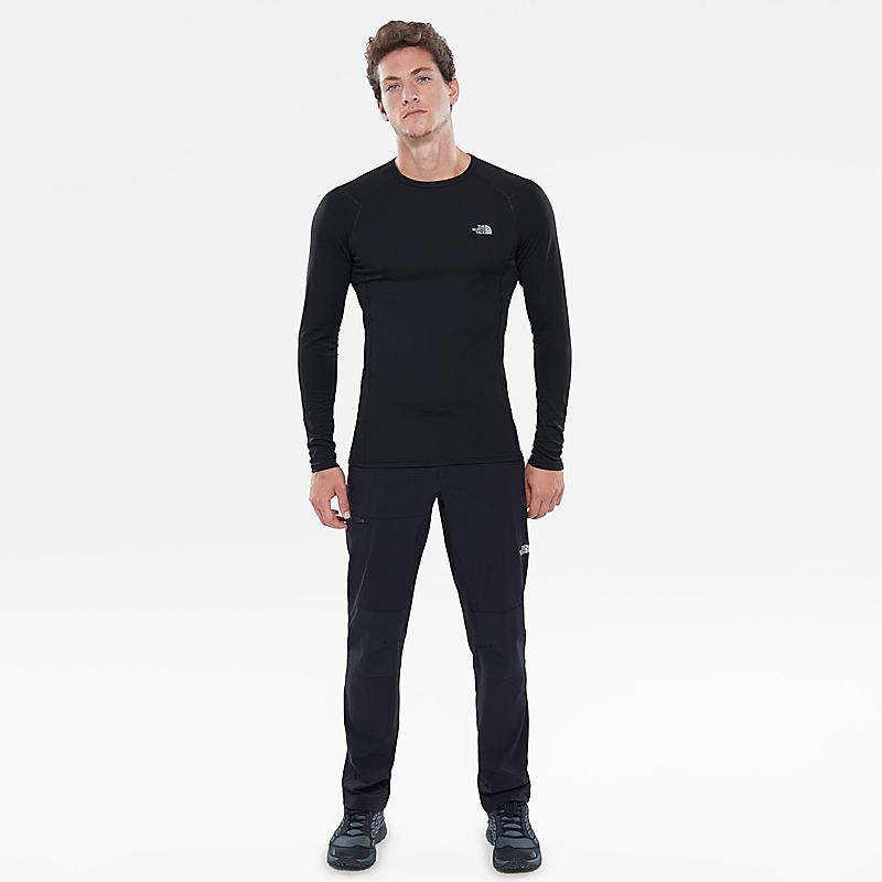 Men's Warm Long-Sleeve Crew Shirt-