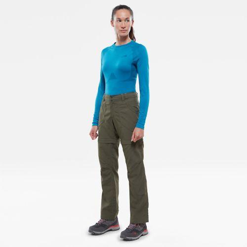Damen Hybrid-Langarmshirt mit Rundhalsausschnitt-