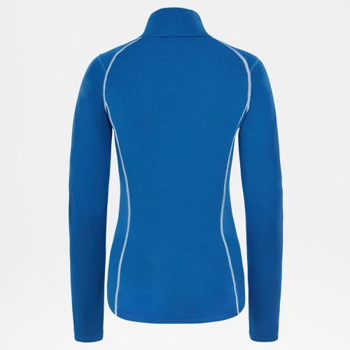 Warm T-shirt met rits en lange mouwen voor dames-
