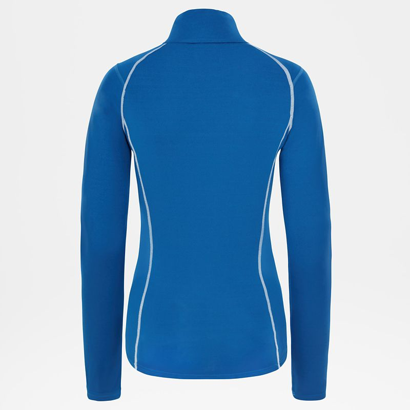 Women's Warm Long-Sleeve Zip Shirt-